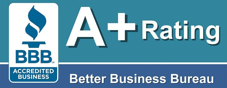 A+ Accredited Member of the Better Business Bureau