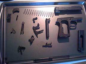Beretta 1944 in pieces awaiting assembly