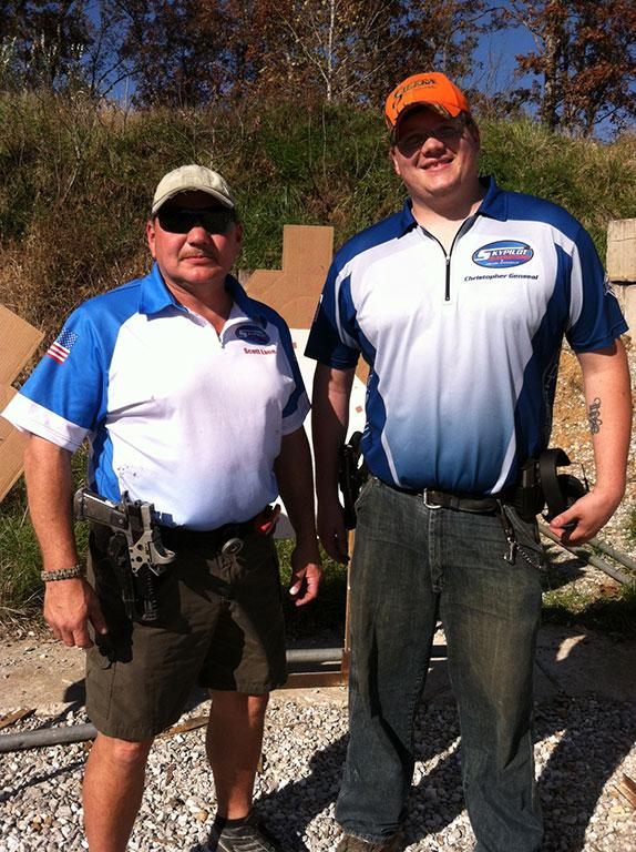 Our sponsored shooters, Scott Lane (left) and Christopher Genseal