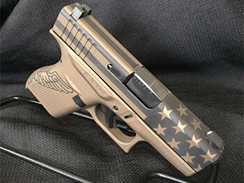 Burnt Bronze Glock 'Americana' Cerakote